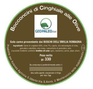 Bocconcini di Cinghiale alle Olive - Carne solo da Battuta di Caccia non di Allevamento - 44 grammi di Proteine a Confezione