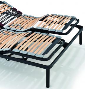 Rete Sole Elettrica 165x195 in Ferro 2 Alzate Separate Doghe in Faggio Portadoghe Basculanti e Ammortizzanti | Prezzi a partire da