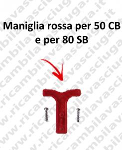 Maniglia rossa per connettore 50 CB e per 80 SB con viti di fissaggio