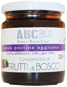 Composta di Frutti di Bosco Bio - Marmellata Senza pectina aggiunta