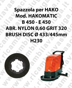 SPAZZOLA LAVARE  per lavapavimenti HAKO modello HAKOMATIC B 450 - E 450