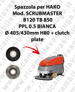 SPAZZOLA LAVARE  per lavapavimenti HAKO modello SCRUBMASTER B120 TB 850