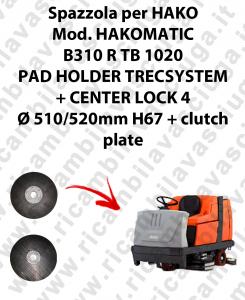 PAD HOLDER TRECSYSTEM  per lavapavimenti HAKO modello HAKOMATIC B310 R TB 1020