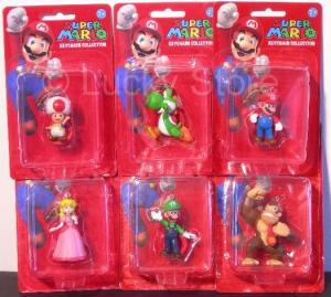 Super Mario Bros mini figure portachiavi 5 cm originale ufficiale Nintendo nuovo blister