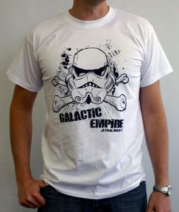 Star Wars Stormtrooper Galactic Empire T-Shirt adulto Maglia manica corta cotone