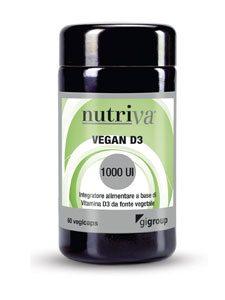 VEGAN D3 integratore alimentare utile in caso di aumentato fabbisogno di vitamina D. Favorisce il naturale benessere del tessuto osseo.