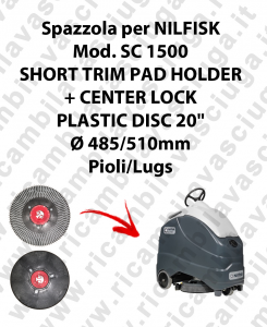 SHORT TRIM PAD HOLDER + CENTERLOCK per lavapavimenti NILFISK mod. SC 1500