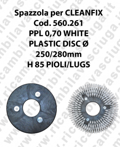 Spazzola lavare PPL 0.7 WHITE per lavapavimenti CLEANFIX codice 560.261