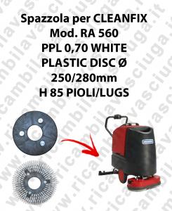 Spazzola lavare PPL 0.7 WHITE per lavapavimenti CLEANFIX modello RA 560