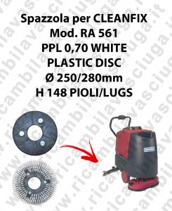 Spazzola lavare PPL 0.7 WHITE per lavapavimenti CLEANFIX modello RA 561
