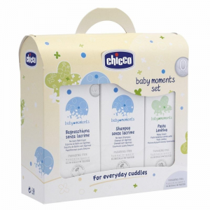 BABY MOMENTS SET BAGNO, SHAMPOO , P.LENITIVA 03207 ARTSANA CHICCO