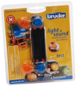 BRUDER ACCESSOLRI LIGHT e SOUND MODULE 02801 BRUDER