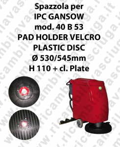 PAD HOLDER VELCRO per lavapavimenti GANSOW modello 40 B 53