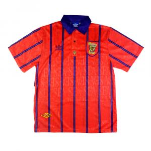 1993-95 Scotland Away shirt L