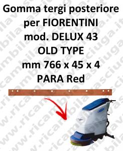 DELUX 43 old type GOMMA TERGI posteriore per tergipavimento FIORENTINI