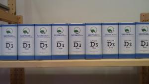 """Vitamina D """"Savana 3D Raw"""" - Scorta per un anno (384 Giorni) - 16 Flaconi"""