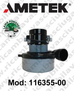 Motore aspirazione 116355-00 LAMB AMETEK per lavapavimenti/aspirapolvere può SOSTITUIRE IL 117275-07