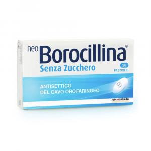 NEOBOROCILLINA - 20 PASTIGLIE SENZA ZUCCHERO ANTISETTICO DEL CAVO OROFARINGEO