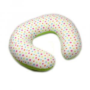 Cuscino allattamento Kikka sfoderabile Verde/Fantasia