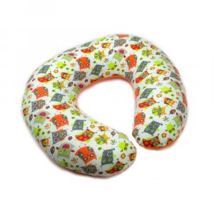 Cuscino allattamento Kikka sfoderabile Arancio/Fantasia
