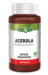 ACEROLA - INTEGRATORE DIFESE ORGANISMO 550 MG 60 CAPSULE ERBAVITA