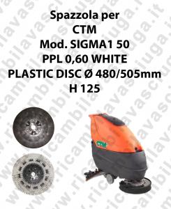 Spazzola lavare PPL 0,60 WHITE per lavapavimenti CTM modello SIGMA1 50