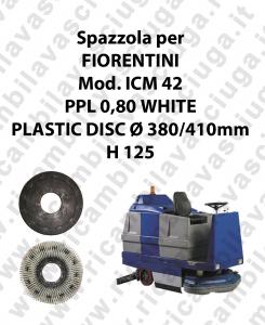 Spazzola lavare PPL 0,80 WHITE per lavapavimenti FIORENTINI modello ICM 42