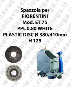 Spazzola lavare PPL 0,80 WHITE per lavapavimenti FIORENTINI modello ET 75