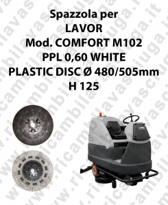 Spazzola lavare PPL 0,60 WHITE per lavapavimenti LAVOR modello COMFORT M102