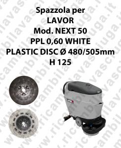 Spazzola lavare PPL 0,60 WHITE per lavapavimenti LAVOR modello NEXT 50