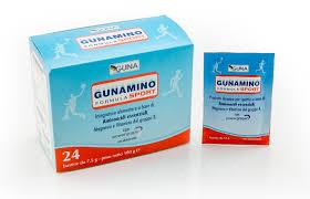 GUNAMINO FORMULA SPORT - INTEGRATORE DIETICO PER SPORTIVI 24 O 42 BUSTINE