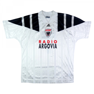 1993-94 Aarau Maglia Romano #7 Match Worn vs Milan (Top)
