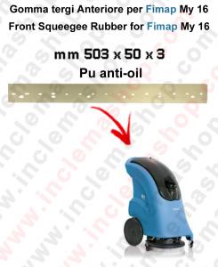 Gomma tergi anteriore per lavapavimenti FIMAP - My 16 in Poliuretano Anti olio