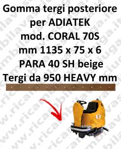 GOMMA TERGI per lavapavimenti CORAL 70S ADIATEK (tergi da 950 mm)