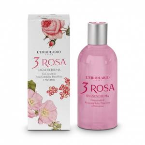 L'ERBOLARIO 3 ROSA bagnoschiuma con estratti di rosa centifolia, pepe rosa e malvarosa