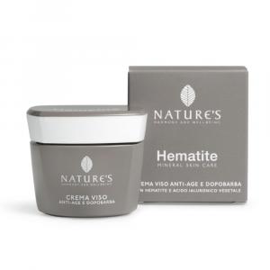 HEMATITE - CREMA VISO ANTI-AGE E DOPOBARBA NATURE'S 50 ML