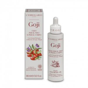L'ERBOLARIO GOJI olio per il viso e per il corpo con estratti biologici di bacche di goji e maqui