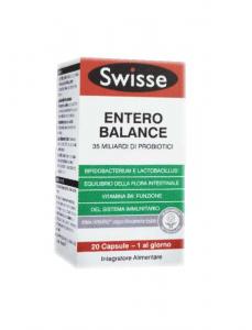 ENTERO BALANCE SWISSE - INTEGRATORE DI FERMENTI LATTICI PROBIOTICI 20 COMPRESSE