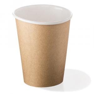 Bicchieri biodegradabili cartoncino 500ml avana