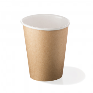 Bicchieri biodegradabili cartoncino 240ml Avana