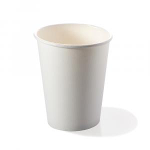 Bicchieri biodegradabili cartoncino 240ml bianchi