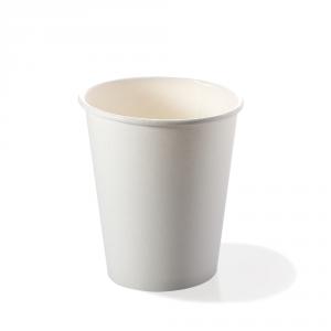 Bicchieri biodegradabili cartoncino 180ml bianchi