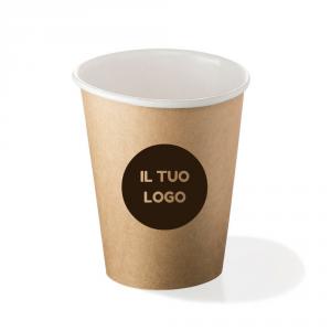 Bicchieri biodegradabili cartoncino personalizzati 240ml