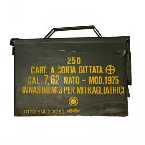 CASSETTA PORTA MUNIZIONI ITALIANA in metallo - Verde Militare