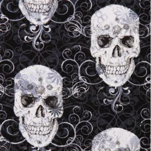 BERIDER White Skull Bandana - Black