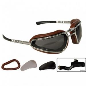 BARUFFALDI EASY RIDER Motorcycle Goggles - Chocolate Brown