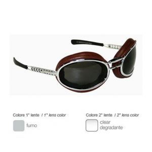 BARUFFALDI SFERICUM PAD Motorcycle Goggles - Chocolate Brown