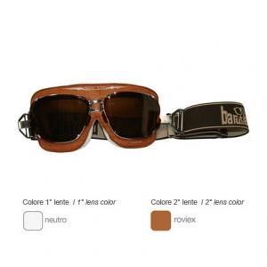 BARUFFALDI SUPERCOMPETITION CROCCO Helmet Goggles - Brown Leather