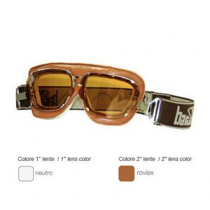 BARUFFALDI SUPERCOMPETITION Helmet Goggles - Brown Leather