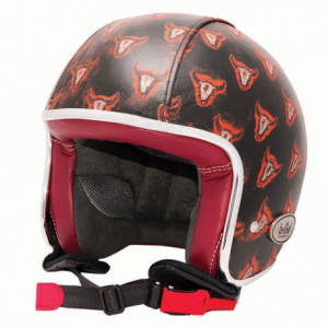BARUFFALDI ZEON VINTAGE ORANGE BULL Jet Helmet - Black
